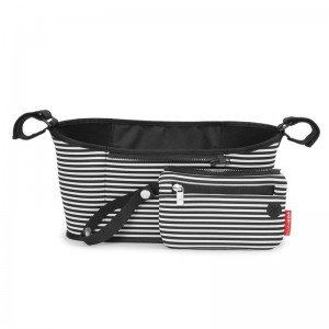 SKIP HOP ORGANIZER DO WÓZKA Black/White Stripe
