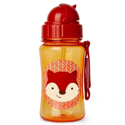 Zoo_StrawBottle_Fox_S(H) (.jpg